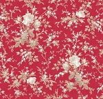 With All My Heart 24803 Red Large Floral by Red Rooster