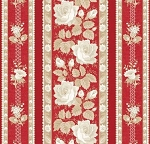 With All My Heart 24810 Red Floral Stripe by Red Rooster