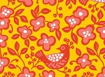 Sundborn Garden 25023 Yellow Bird Floral by Red Rooster