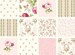 Symphony Rose 25375 Pink Floral Blocks by Red Rooster