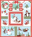Joy 27120-11 Snow Laughing All the Way Panel by Kate Spain for Moda