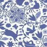 Daydream 27170-24 White & Ink Arcadia by Kate Spain for Moda