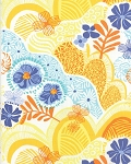 Daydream 27171-12 Yellow Hills & Valleys by Kate Spain for Moda