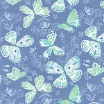Aria 27230-26 Water Butterfly by Kate Spain for Moda EOB