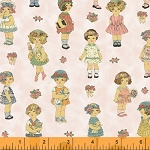 Paper Dolls 28118-1 Dolls on Pink by Windham EOB FQ