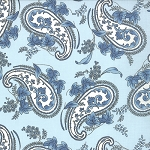 Windsor Lane 2842-17 Sky Paisley by Bunny Hill for Moda