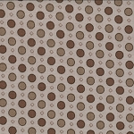 Windsor Lane 2845-20 Taupe Geo Dot by Bunny Hill for Moda