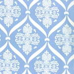 Jubilee 2852-14 Bright Blue Bunny Damask by Bunny Hill for Moda