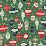 25th & Pine 30360-14 Wintergreen Ornament Square by Moda