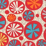 Mod Century 30510-11 Cream Atomic Starbursts by Jenn Ski for Moda