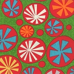 Mod Century 30510-13 Leaf Atomic Starbursts by Jenn Ski for Moda