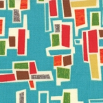 Mod Century 30514-16 Turquoise Tiny Town Blocks by Jenn Ski for Moda