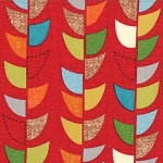 Mod Century 30515-12 Ruby Vine Stripe by Jenn Ski for Moda