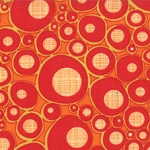 Mod Century 30516-17 Tangerine Ruby Pod Dots by Jenn Ski for Moda