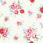 Flower Sugar Fall '13  30841-10 Lg Floral on White by Lecien