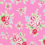 Flower Sugar Fall '13  30841-20 Lg Floral on Pink by Lecien