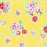 Flower Sugar Fall '13  30841-50 Lg Floral on Yellow by Lecien