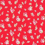 Flower Sugar Fall '13  30843-30 Small Floral on Red by Lecien  EOB