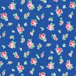 Flower Sugar Fall '13  30843-77 Small Floral on Blue by Lecien EOB