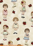 Paper Dolls Christmas 30859 paper dolls by Windham  EOB