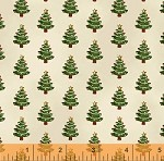 Paper Dolls Christmas 30864-1 Trees on Cream by Windham  EOB