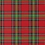 Paper Dolls Christmas 30866-2 Red plaid by Windham  EOB