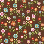 Cherry on Top 32703-18 Chocolate Candy Garden by Keiki for Moda