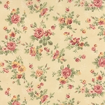 Roses & Chocolate 32921-11 Ivory Spaced Floral by Moda