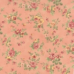 Roses & Chocolate 32921-12 Rose Spaced Floral by Moda