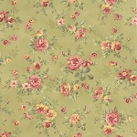 Roses & Chocolate 32921-15 Sage Spaced Floral by Moda