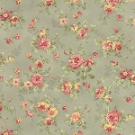 Roses & Chocolate 32921-17 Mist Spaced Floral by Moda
