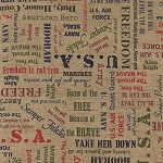Because of the Brave 32950-11 Burlap Multi Words by Moda