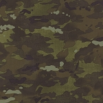 Because of the Brave 32954-12 Army Green Camo by Moda