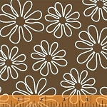 Shadow Flower 33444-1 Brown Outline Daisy by Windham Fabrics