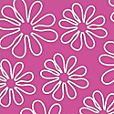Shadow Flower 33444-3 Pink Outline Daisy by Windham Fabrics
