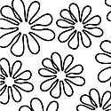 Shadow Flower 33444-5 White Outline Daisy by Windham Fabrics