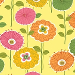 Gramercy 3507-33 Yellow Chelsea by Kitty Yoshida for Benartex