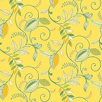 Gramercy 3508-33 Yellow Lexington by Kitty Yoshida for Benartex