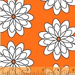 Delight 35191-4 Orange Spiral Flower by French Bull for Windham