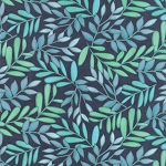 Tucker Prairie 36001-11 Stormy Vinca by One Canoe Two for Moda