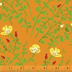 Briar Rose 37023-3 Orange Nanny Bee by Heather Ross for Windham EOB