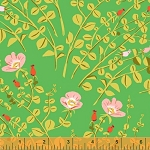 Briar Rose 37023-5 Green Nanny Bee by Heather Ross for Windham