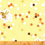 Briar Rose 37025-7 Yellow Hex Bee by Heather Ross for Windham