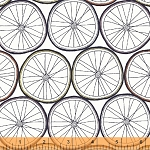 Ride 37055-2 White Wheels by Julia Rothman for Windham