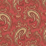 Paris Flea Market 3730-15 Rouge Paisley by 3 Sisters for Moda
