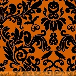 Raven 38984-2 Orange Damask by Rosemarie Lavin for Windham