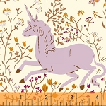 Far Far Away 39657-2 Lavender Unicorn by Heather Ross for Windham