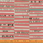 Paint 39700-3 Coral Staggered Stripe by Such Designs for Windham