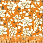 Mimosa 39982-5 Mandarin Flowers and Pebbles by Windham