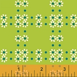 Mimosa 39985-3 Lime Daisy Grid by Windham